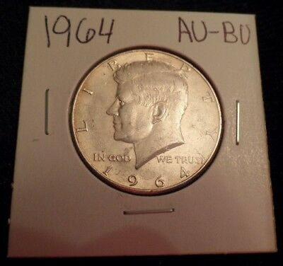 #24 Au / Bu Silver Kennedy Half Dollar 1964 With Toning