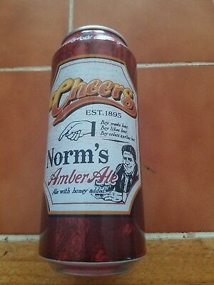 Cheers Norm's Amber Ale 16 oz beer can LAST ONE!!