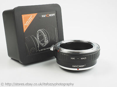 K&F Concept Nikon F to M43 Adapter AI AIS Pre AI to Micro Four Thirds Adapter