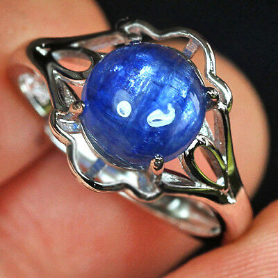 11.45CT 100% Natural 18K Gold Plated Brazilian Blue Kyanite Ring UDKN120