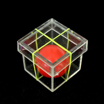 Funny Ball Penetrating Through Box Illusion Stage Close-up Magic Props Toy