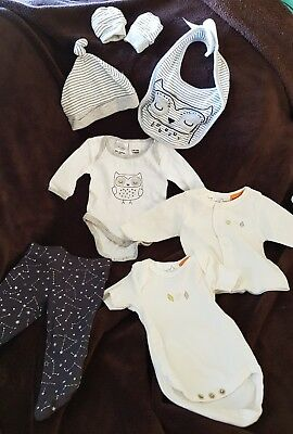Baby clothing bundle. Extra small 00000. For small or premmie baby. NEVER WORN.