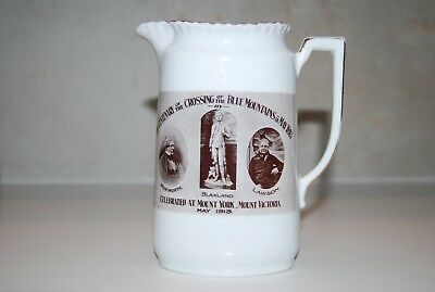 Comemorative Jug, Of The Centenary Of The Blue Mountains. 1813-1913