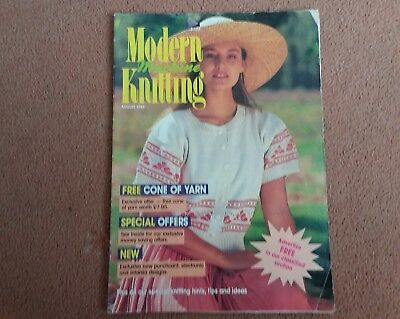 Modern Machine  Knitting...Aug.1989..knitmaster