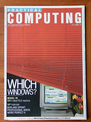Practical Computing - July & August 1988 - Two vintage computer magazines
