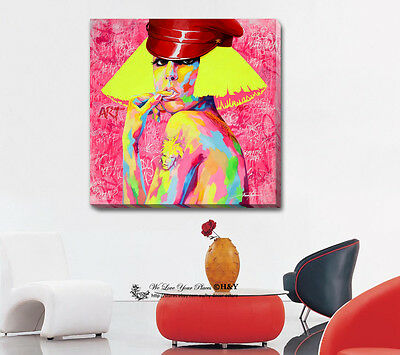 Lady Gaga Stretched Canvas Print Framed Wall Art Room Decor Painting Celebrity