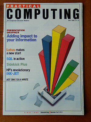 Practical Computing - May 1988 -  vintage computer magazine