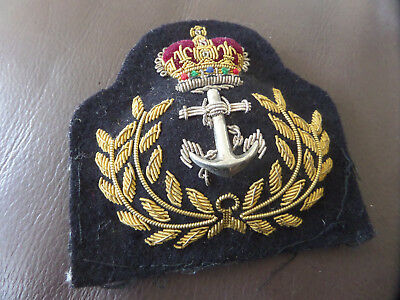 Royal Navy Officers Cap Badge, RN, Hat, Rank , Army, Regiment, Military.