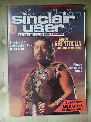 Sinclair User - April & August 1985 - 2 vintage computer magazines