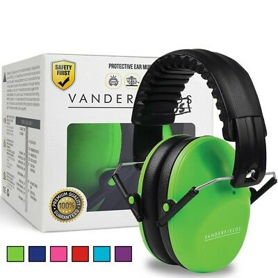 Ear Defenders for Kids Toddlers Children Babies Noise Protection Reduction Green