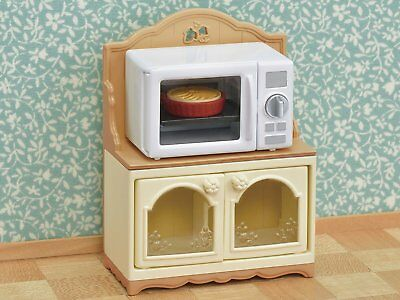 Sylvanian Families Calico Critters Furniture Microwave Oven & Cabinet
