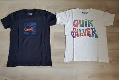 Lot De 5 T-Shirts Garcon Printemps/ete Taille 14 Ans Quicksilver/billabong