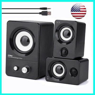 USB Powered Computer Speakers System for Gaming/Music/Movies Stereo Sound