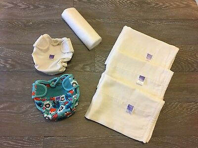 Perfect Bambino mio Re-Usable Nappies, Covers (Little Fox/ Plain White), Liners