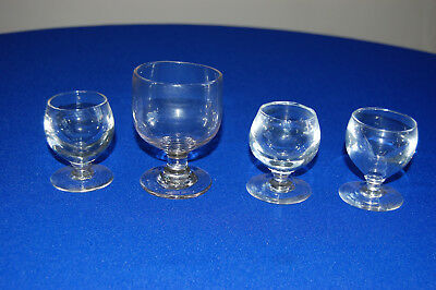 Antique 19c Small Collection of 4 Drinking Glasses.