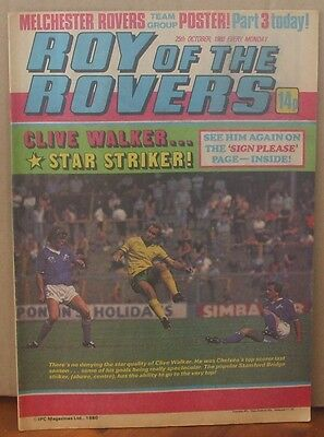 ROY OF THE ROVERS  25th October 1980 The Hard Man MIghty Mouse Tommy's Troubles