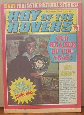 ROY OF THE ROVERS  8th November 1980 The Hard Man MIghty Mouse Tommy's Troubles