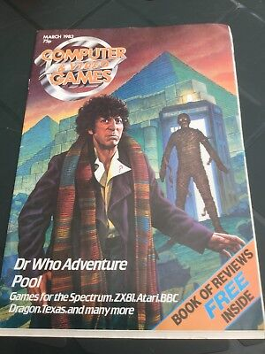 Computer & Video games Magazine March 83 Doctor Who - Incomplete