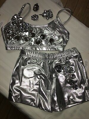 Childs Dance Costume 1 Of A Kind Size:M Stunning ! Ready For Stage ! 2 Pc Set