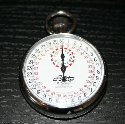 Aristo APOLLO Vintage Stoppuhr SWISS MADE Rarität! 7 Jewels Shock Resistant