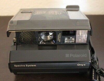 Polaroid Onyx Image System See Through Spectra Instant Camera & Hard Case