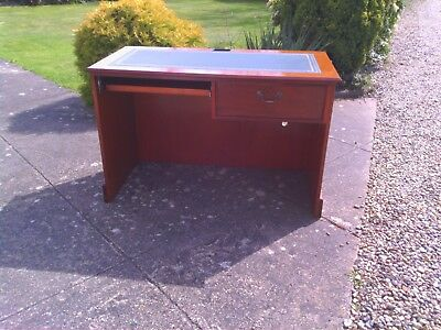 Vintage Repro Writing Desk With Green Inlay