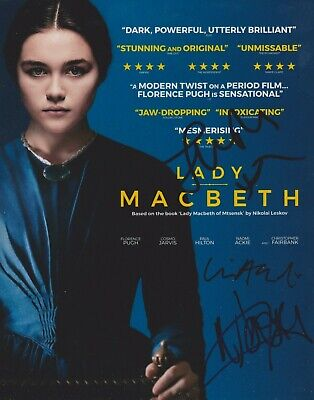 Florence Pugh/Naomi Ackie/William Oldroyd Signed Lady Macbeth 10x8 Photo AFTAL