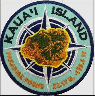Travel Patch Badge Kauai Island Hawaii Hawaiian
