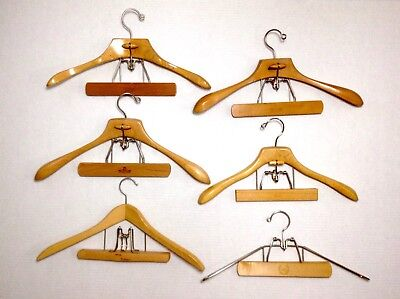 Vintage Wood Hangers Suit Coat & Pant/Skirt Combo Lot Of 6 Setwell Sears Harmony