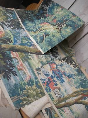 Huge collection mainly 19thC antique French hand painted tapestry patterns
