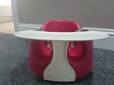 Bumbo Baby Seat With Tray Child Chair Excellent Condition - pink