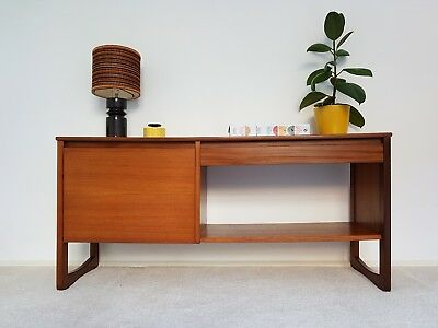 Stylish Mid Century Record Cabinet Storage Sideboard Danish Vintage Retro 1960s