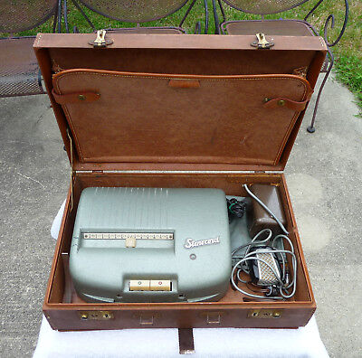 Vtg Stenocord Type D Stenograph Recorder Machine 1957 w/case and car Adapter