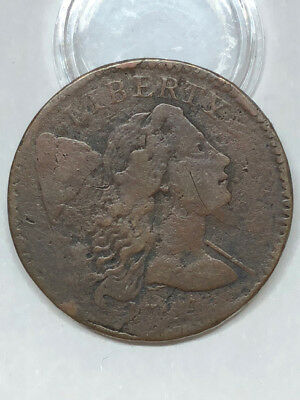 "1794 ""Head of 1795"" Liberty Cap Large Cent - Carved W on Rev."
