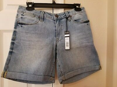 New with Tags Max Jeans Rolled Cuff Denim Shorts Size 6 Acacia Wash