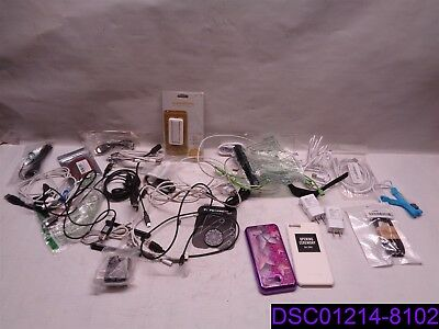 Qty = 44 Pieces: New & Used Cell Phone Chargers & Accessories Mixed Lot