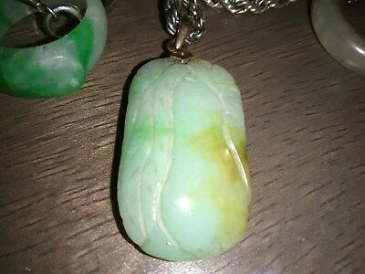 Jade:  Chinese Rare Antique Translucent Green for Necklace.
