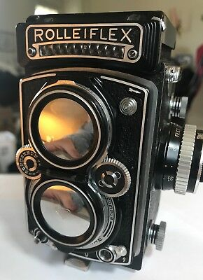Rolleiflex 3.5e  Zeiss Planar, CLA, Maxwell Screen, Cap, Case, Excellent