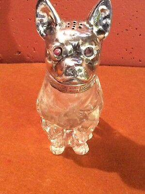 Vintage Glass Boxer (?) With Sterling Silver Head