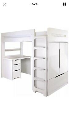 ASPACE Childrens High Sleeper Farringdon Bed With Double Wardrobe