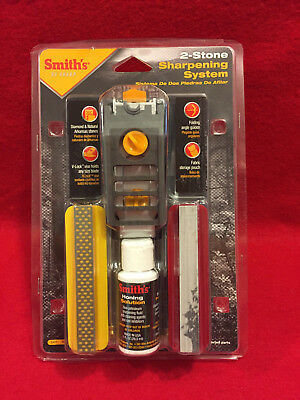 Smith's Diamond Stones Precision Knife Sharpening System w/ V-Lock Vise