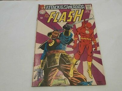 *AR* DC Silver Age Flash #181 Aug 1968 Attack of the Samuroids! Iris and Barry!