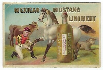 Mexican Mustang Liniment late 1800's medicine trade card