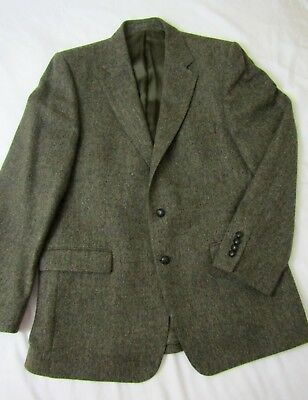 MAGEE Wool Blazer Donegal Tweed Murphy of Ireland Brown Green Flecked 46
