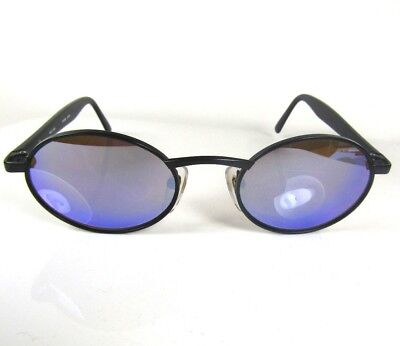 05c19f9db81 Vintage REVO Blue Mirrored 962 050 Sunglasses Black Metal Frame Japan