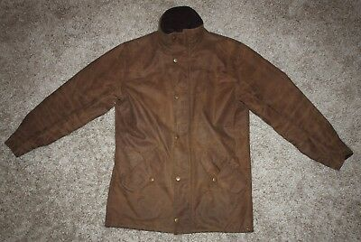 Barbour  NEWHAMPSHIRE Waxed Jacket in Brown - Small  [2623]