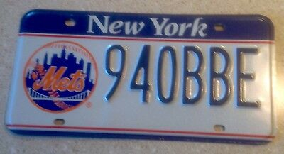 Blue Banner New York Mets NY License Plate