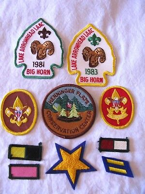 Lot 1980s Vintage BOY SCOUT Embroidered PATCHES~Lake Arrowhead LAAC + More~BSA