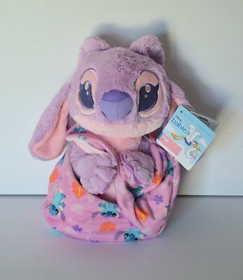 Disney Parks Baby Angel in a Blanket Pouch Plush Lilo and Stitch NWT Ships FREE