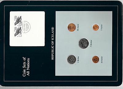 Coin Sets of All Nations Iceland w/card all 1981 UNC 2-200